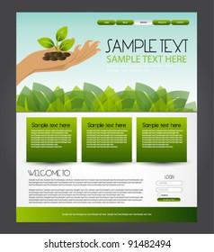 green eco web design template