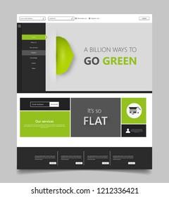 Green eco website with eco logo design