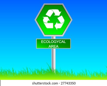 green ecological sign