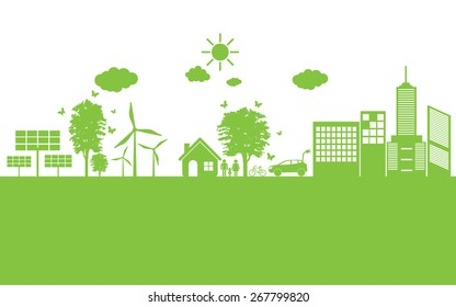 Green ecology City environmentally friendly .