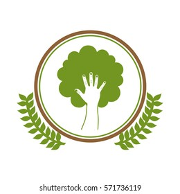 Green ecology concept icon vector illustration graphic design