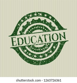 Green Education distressed rubber seal