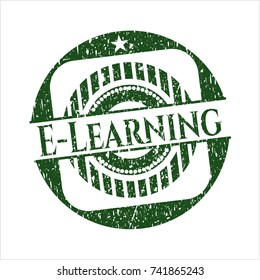Green E-Learning distress with rubber seal texture