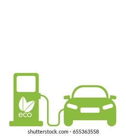 Green electric car charging