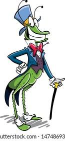 green elegant fashionable grass hopper