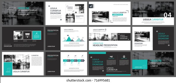 Green element for slide infographic on background. Presentation template. Use for business annual report, flyer, corporate marketing, leaflet, advertising, brochure, modern style.