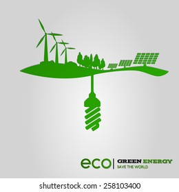 Green energy ecological concept