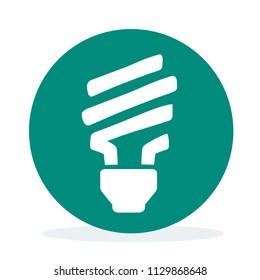 Green energy and electricty saving light bulb