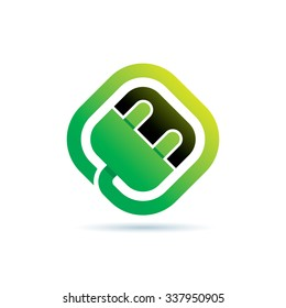 Green Energy Icon Logo Elements
