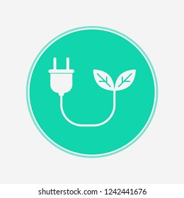 Green energy vector icon sign symbol
