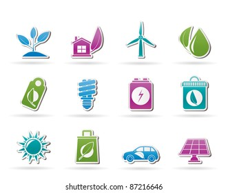 Green and Environment Icons - vector icon set