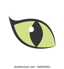 green eye big cat glowing icon vector illustration eps 10