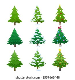 Cartoon Christmas Tree Images Stock Photos Vectors Shutterstock Xmas tree clipart black and white. https www shutterstock com image vector green fir tree decorated covered snow 1559668448