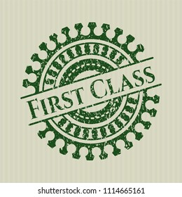 Green First Class with rubber seal texture