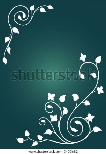 green floral background (vector)