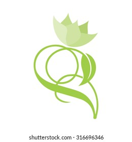 green flower logo