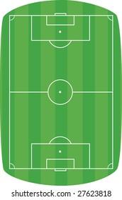 Green football field background. Vector illustration