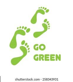 green footsteps