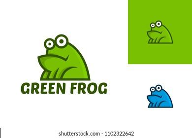 Green Frog Logo Character Template Design Vector, Emblem, Design Concept, Creative Symbol, Icon
