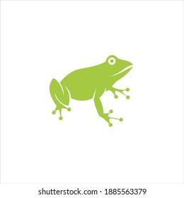 green frog logo symbol template design icon