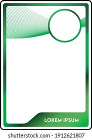 green futuristic leisure pass card template design