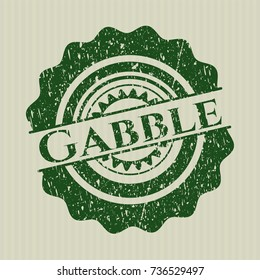 Green Gabble distressed rubber grunge texture stamp