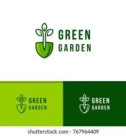 Green garden environment logo template vector illustration. Agriculture icon logotype design