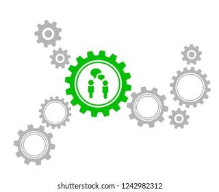 green gear icon - Talk