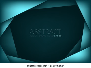 Green geometric frame vector background