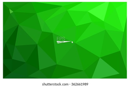 Green geometric rumpled triangular low poly origami style gradient illustration graphic background. Vector polygonal design for your business.