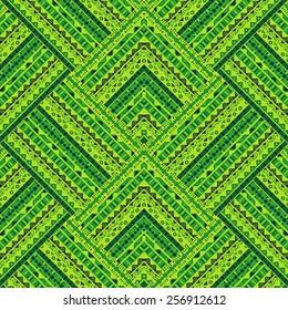Green geometrical tribal pattern
