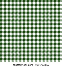 Green Gingham Seamless Pattern - Traditional green and white gingham seamless pattern