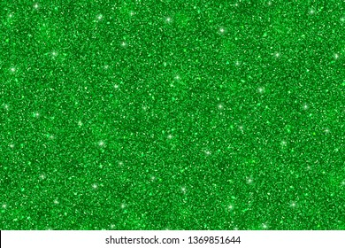 Green glitter holiday background. Vector