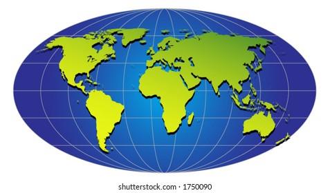 GREEN GLOBE (vector)