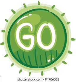Green GO traffic light vector illustration