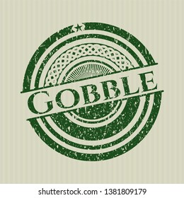 Green Gobble rubber grunge stamp