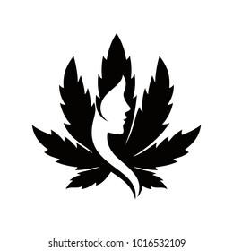 green goddess vector logo.