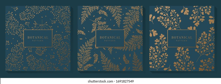 Green and Gold Botanical Pattern