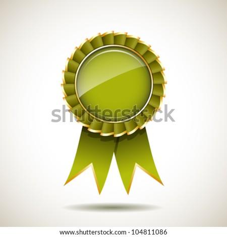 green gold ribbon award vector illustration stock vector royalty
