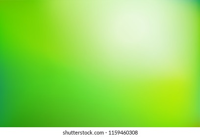 Green gradient background. Abstract nature blurred backdrop. Vector illustration. Ecology concept for your graphic design, banner or poster.