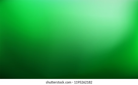 Green gradient background. Abstract nature blurred backdrop. Vector illustration. Ecology concept for your graphic design, banner or poster
