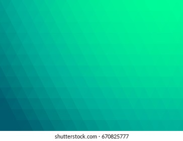 Green Gradient Vector Background. Abstract Triangles Pattern.