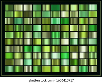 Green gradients set, simple nature, spring, cover design