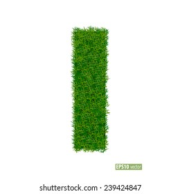 Green grass alphabet. Vector illustration.