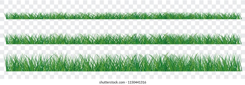 Green grass border transparent background vertor world cup uae cmyk full color Wallpaper Banner poster Large set of fresh green spring grass borders  lengths densities EK WK 2019 play model ball sport