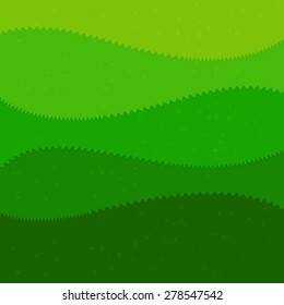 Green grass cartoon kids style background vector illustration