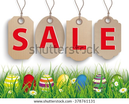 green grass colored easter eggs 4 stock vector royalty free