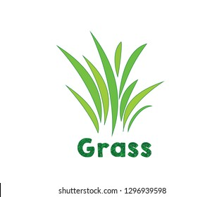 Green grass, or Gazon in French. Vector icon. web version.
