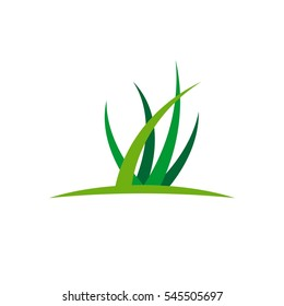 Green Grass vector Logo Template Illustration Design. Vector EPS 10.