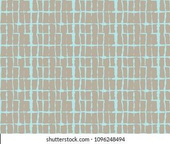 Green, Gray Dark Geo Pattern Kimono Ornament. Seamless Painted Geometrical Wabi Sabi Ikat Texture. Organic Tie Dye Batik Bohemian Fabric Background. Simple Kimono Geo Pattern Fabric Vintage Design